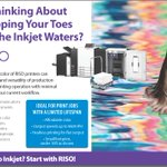 Image for the Tweet beginning: Introduce inkjet affordably with RISO! #riso