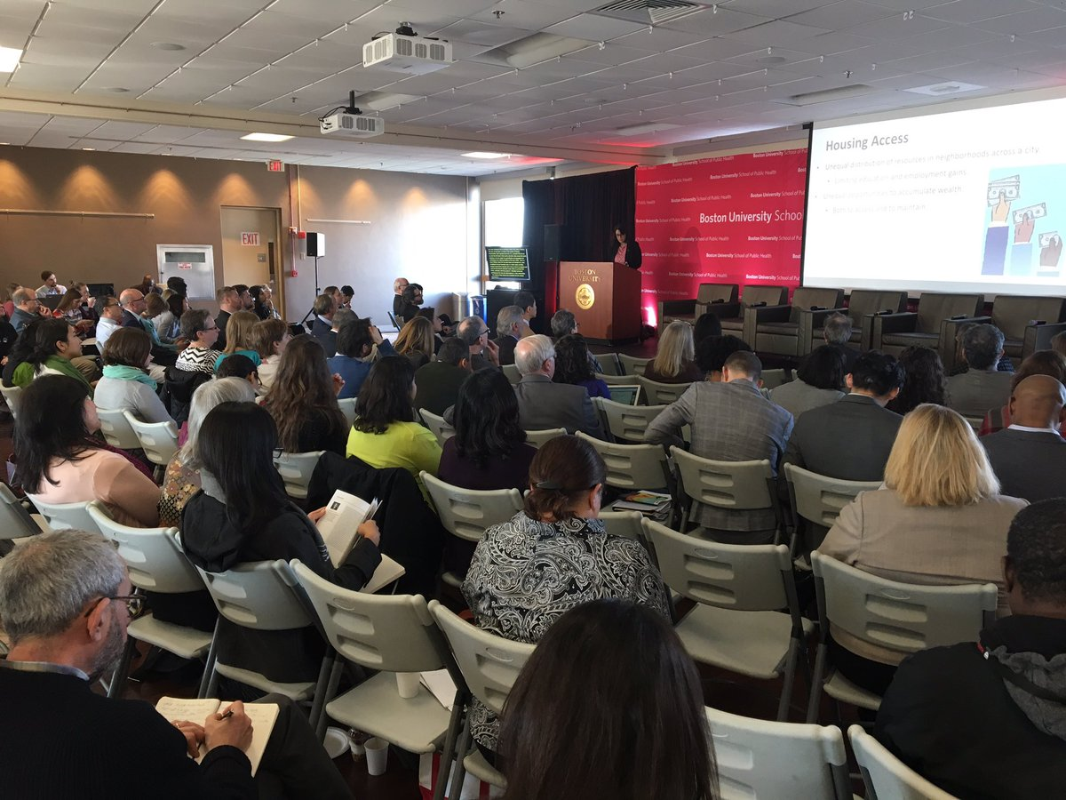 """""""Until we start referring to housing as a basic necessity, and not a commodity, we are heading into really troubling times."""" I agree, @rmehdipa. Housing, and health, is inseparable from #socialjustice. @umichsph @AbdulElSayed #BUSPHSymposia <br>http://pic.twitter.com/iHFNKfqOEN"""