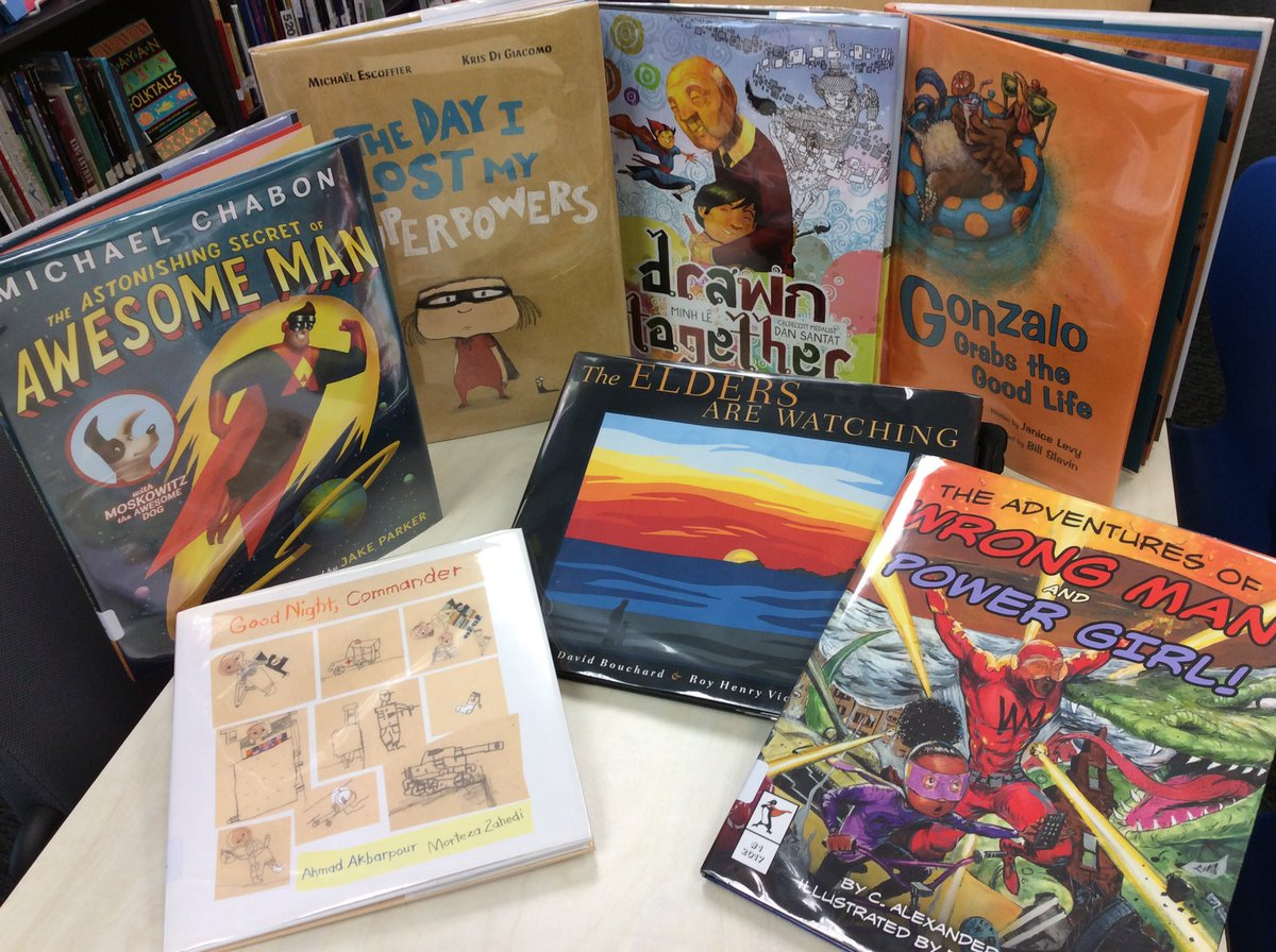 Libraries have stories for everyone. Just arrived: new picture books for teens. <a target='_blank' href='http://search.twitter.com/search?q=APSLibrariansInclude'><a target='_blank' href='https://twitter.com/hashtag/APSLibrariansInclude?src=hash'>#APSLibrariansInclude</a></a> <a target='_blank' href='http://search.twitter.com/search?q=ACHSmavericks'><a target='_blank' href='https://twitter.com/hashtag/ACHSmavericks?src=hash'>#ACHSmavericks</a></a> <a target='_blank' href='http://search.twitter.com/search?q=picturebookactivist'><a target='_blank' href='https://twitter.com/hashtag/picturebookactivist?src=hash'>#picturebookactivist</a></a> <a target='_blank' href='http://search.twitter.com/search?q=janicelevy'><a target='_blank' href='https://twitter.com/hashtag/janicelevy?src=hash'>#janicelevy</a></a> <a target='_blank' href='http://search.twitter.com/search?q=dansantat'><a target='_blank' href='https://twitter.com/hashtag/dansantat?src=hash'>#dansantat</a></a> <a target='_blank' href='http://search.twitter.com/search?q=michaelescoffier'><a target='_blank' href='https://twitter.com/hashtag/michaelescoffier?src=hash'>#michaelescoffier</a></a> <a target='_blank' href='http://search.twitter.com/search?q=michaelchabon'><a target='_blank' href='https://twitter.com/hashtag/michaelchabon?src=hash'>#michaelchabon</a></a> <a target='_blank' href='http://search.twitter.com/search?q=davidbouchard'><a target='_blank' href='https://twitter.com/hashtag/davidbouchard?src=hash'>#davidbouchard</a></a> <a target='_blank' href='http://search.twitter.com/search?q=ahmadakbarpour'><a target='_blank' href='https://twitter.com/hashtag/ahmadakbarpour?src=hash'>#ahmadakbarpour</a></a> <a target='_blank' href='http://search.twitter.com/search?q=alexanderlondon'><a target='_blank' href='https://twitter.com/hashtag/alexanderlondon?src=hash'>#alexanderlondon</a></a> <a target='_blank' href='https://t.co/1LjlYd9T0w'>https://t.co/1LjlYd9T0w</a>