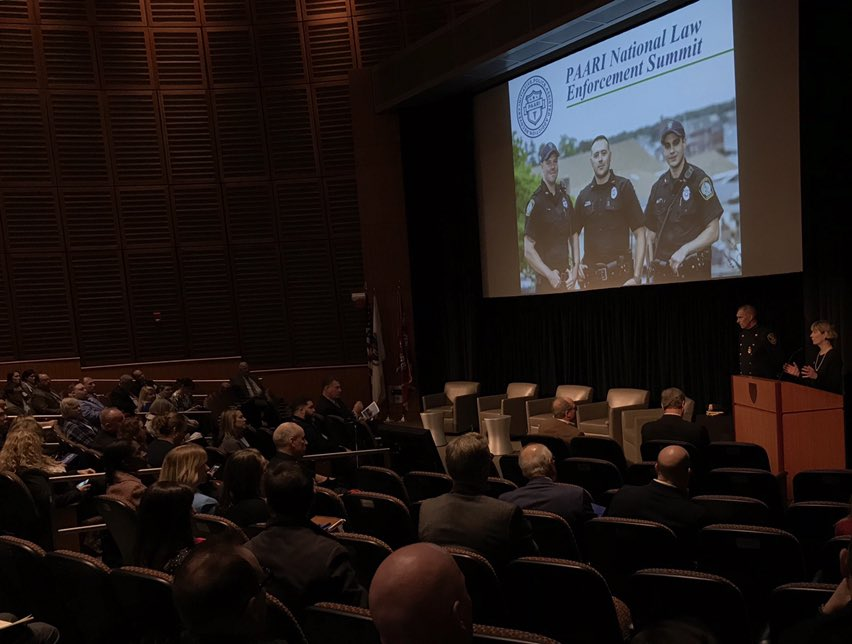 It was encouraging to see hundreds of law enforcement leaders from around the country come together for #PAARISummit2018- incl. police officers/recovery coaches from @MethuenPolice &amp; @lawrencepolice who i've had the pleasure to work w/ over the years to fight the opioid epidemic.<br>http://pic.twitter.com/sfXlKI5qgM &ndash; à Joseph B Martin Conference Center