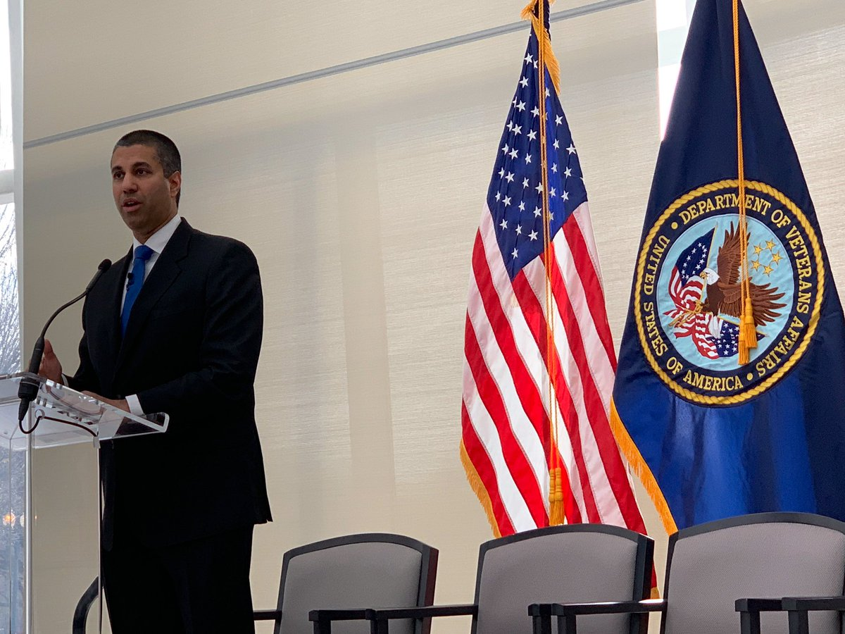 24% in rural communities don't have broadband access. @FCC Commissioner @AjitPaiFCC on improving connectivity to enable #virtualcare #telemedicine #mHealth  at @DeptVetAffairs #A2ATelehealth <br>http://pic.twitter.com/9UEwQVbd70 &ndash; à United States Institute of Peace