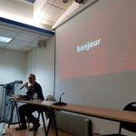 Image for the Tweet beginning: Le Pr @srduncombe de l'université