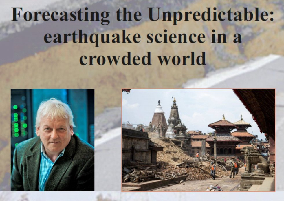 test Twitter Media - 'Forecasting the Unpredictable: earthquake science in a crowded world.' On Dec 12, 6.30pm Prof. John McCluskey @EdinburghUni will be discussing science of earthquakes at our public lecture in the Schrodinger Theatre @tcddublin. Admission free, all welcome. https://t.co/Loy5zTTwRD https://t.co/f6hWkQ61UE