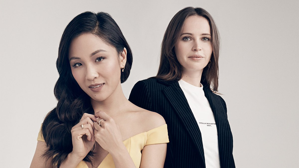 Constance Wu (#GoldenGlobes nominee) and Felicity Jones talk feminism and female film critics. Watch their full Actors on Actors conversation:  https:// bit.ly/2G5aE77  &nbsp;   | #ActorsOnActors presented by @amazonstudios<br>http://pic.twitter.com/zR3VY1R9g0