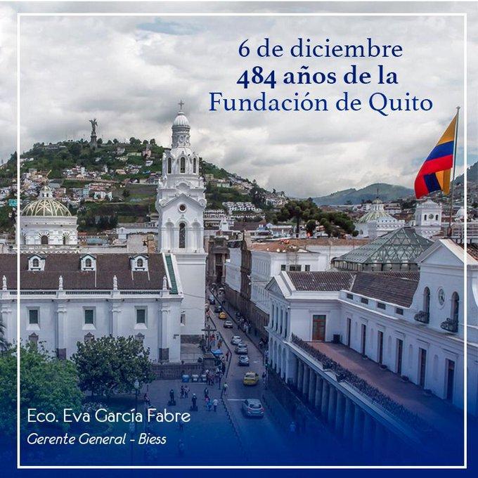 #VivaQuito en sus Fiestas de Fundación, ciudad productiva de gente amable y trabajadora. Desde el @BiessEcuador nuestro compromiso de continuar trabajando por el desarrollo de la capital y del país. #Biesscontigo Photo