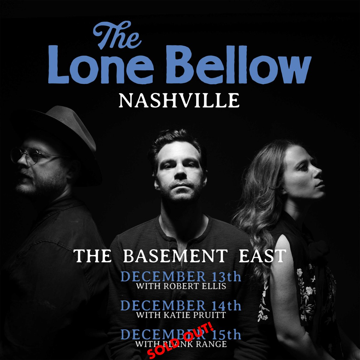 The Saturday, December 15th @TheLoneBellow show is SOLD OUT! Get you tickets ASAP for the 13th & 14th!  13th: http://bit.ly/TLB1213  14th: http://bit.ly/TLB1214