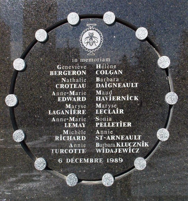 They were killed because they were women. Every day, we must continue the work to end violence against women. #December6 Photo