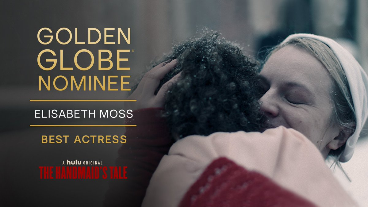 Congratulations #ElisabethMoss for your #GoldenGlobes nomination for Best Actress ❤️