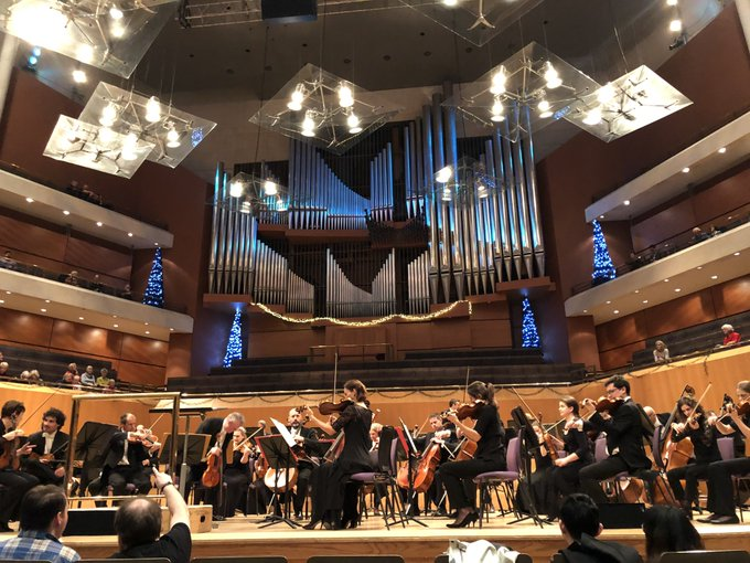 Saw Manchester's symphony orchestra @the_halle for first time tonight. Fantastic. £10 in. Pay on the day. Should get them in a MUFC away end. That'd spook opponents and stop them taking the lead every match. Photo