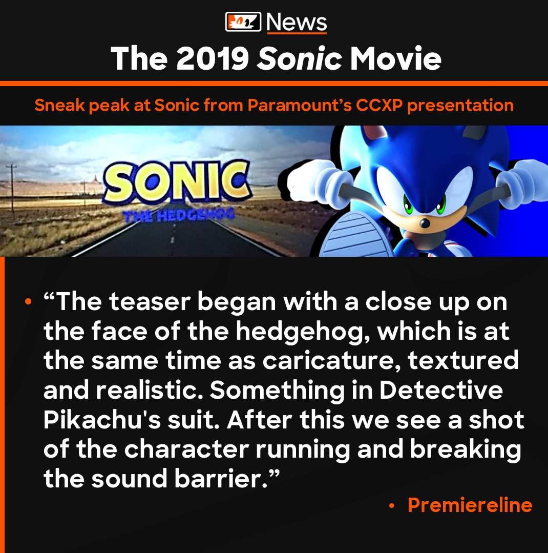 Tails Channel Sonic The Hedgehog News Updates On Twitter New Paramount Revealed A Sonicmovie Sneak Peak During Their Presentation At The Comic Con Experience In Sao Paulo Brazil A Close