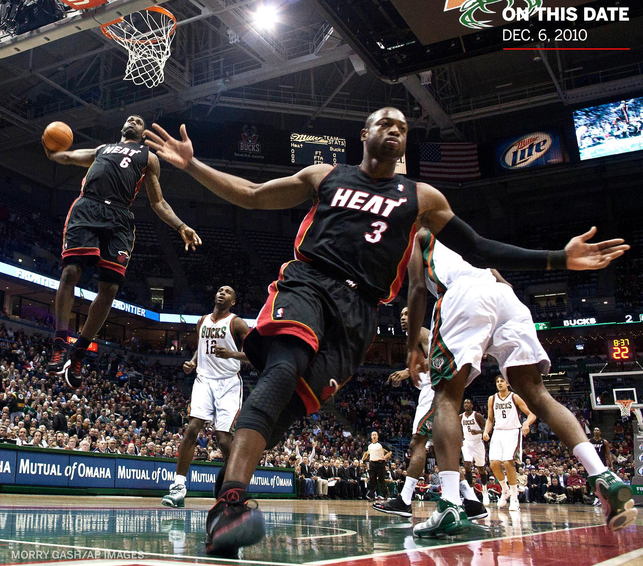 On This Date: 8 years ago today, @KingJames and @DwyaneWade made one of the greatest photos in NBA history �� https://t.co/iRg5TrW5SZ