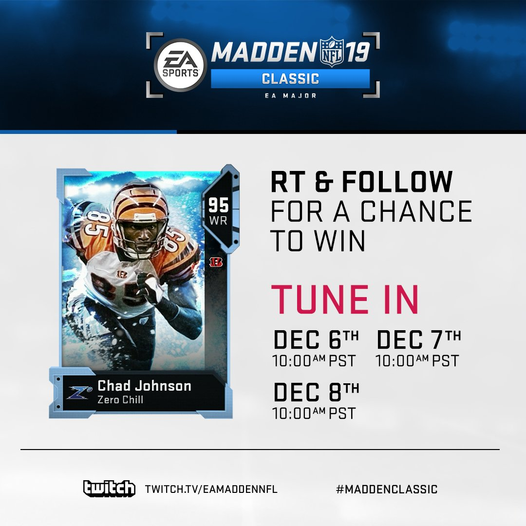 Day 1 of the #MaddenClassic is about to start!  WATCH NOW: https://t.co/AqnEkJoCGy #Madden19