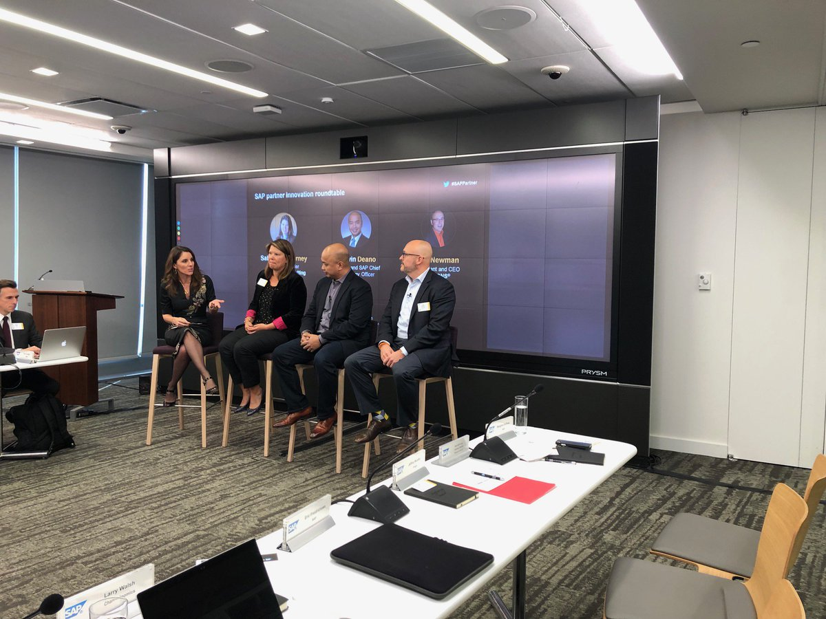 Great conversation by folks from @SAP_BMC and @HRIZONS at the #SAPPartner Business Forum in #HudsonYards NYC! @SAPPartnerEdge @SAP<br>http://pic.twitter.com/frWoIG7KM7