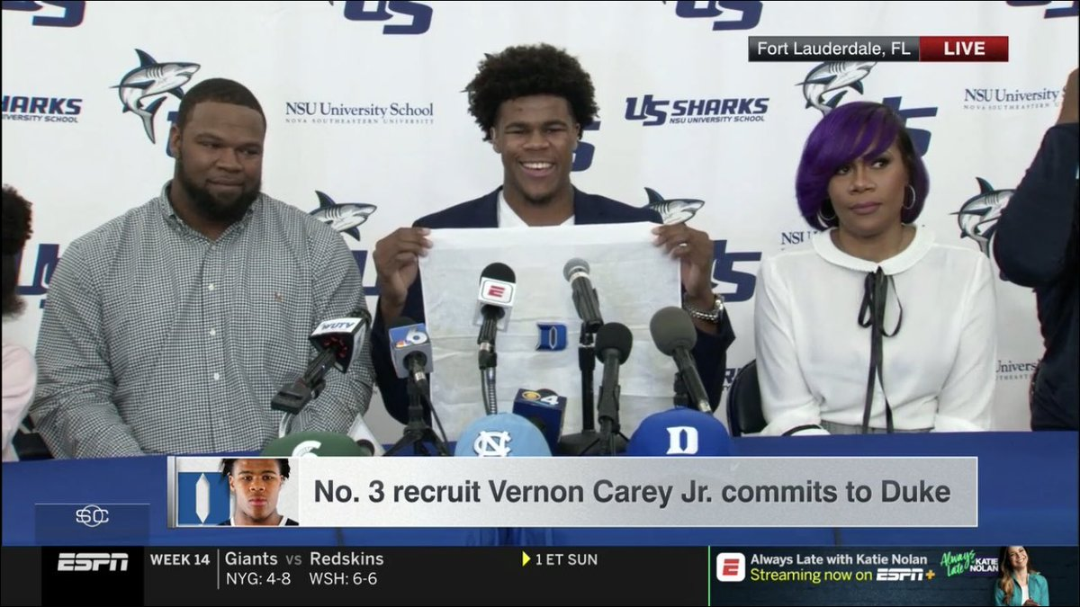 Duke Recruiting's photo on Vernon Carey Jr.