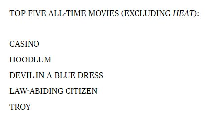 Allen Iverson&#39;s list of the five greatest movies of all time is one of the strangest things I&#39;ve ever seen <br>http://pic.twitter.com/RJxzemZMTz