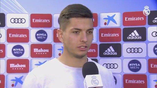 ⚽ ¡Debut en el Bernabéu y anotando su primer GOL en partido oficial con el @realmadrid! Estas fueron las palabras de @javisf5 en #RMTV... #RMCopa