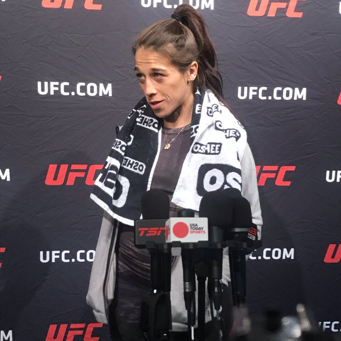 Joanna Jedrzejczyk says 126 pounds with about 20 hours left until the weigh-in window opens. #UFC231 Photo