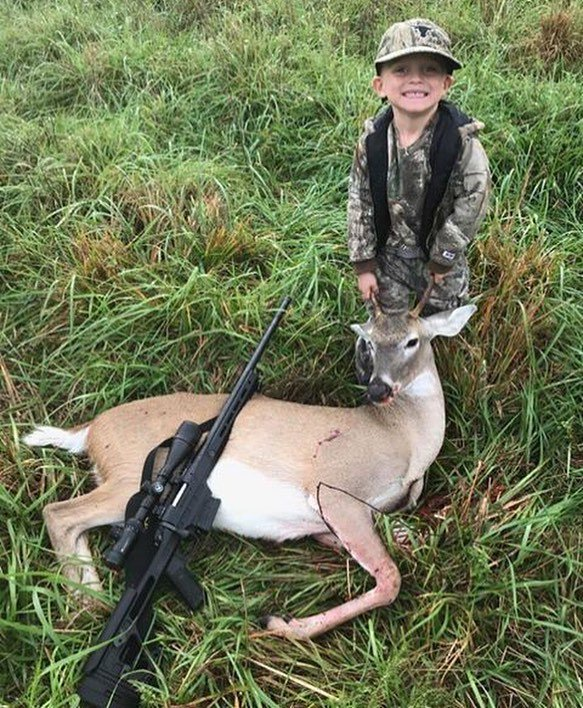 Congratulations Maverick on your first deer! #deerhunting #whitetail #hunting #scentblaster #getmorescentout #attractmoregame