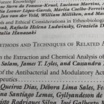 Hot off the presses! I just got my copy of Methods & Techniques in Ethnobiology & Ethnobiology in the mail. Check out Chapter 17 from #QuaveLab (@AkramMSalam + Lyles & I) on Methods in the Extraction & Chemical Analysis of Medicinal Plants 🌱 Link at https://t.co/ZVpBH7fCe4