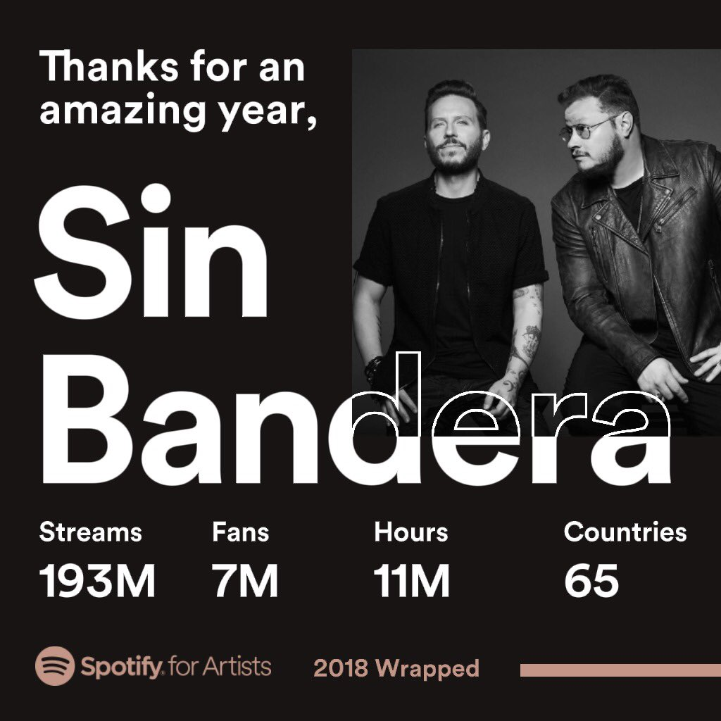 Sin Bandera's photo on #wrapped2018