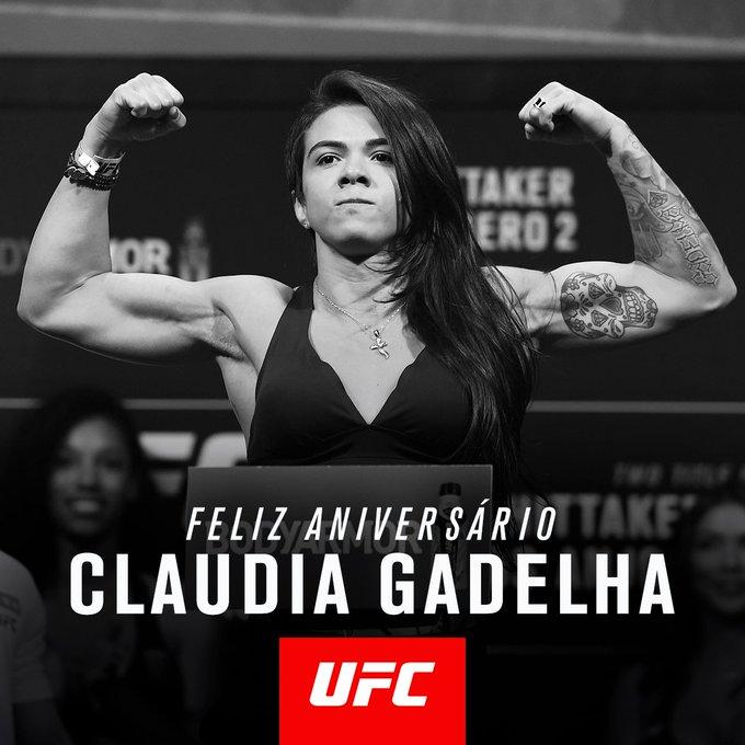 Parabéns, @ClaudiaGadelha_ e muito boa sorte amanhã no #UFC231! 🎂 Photo