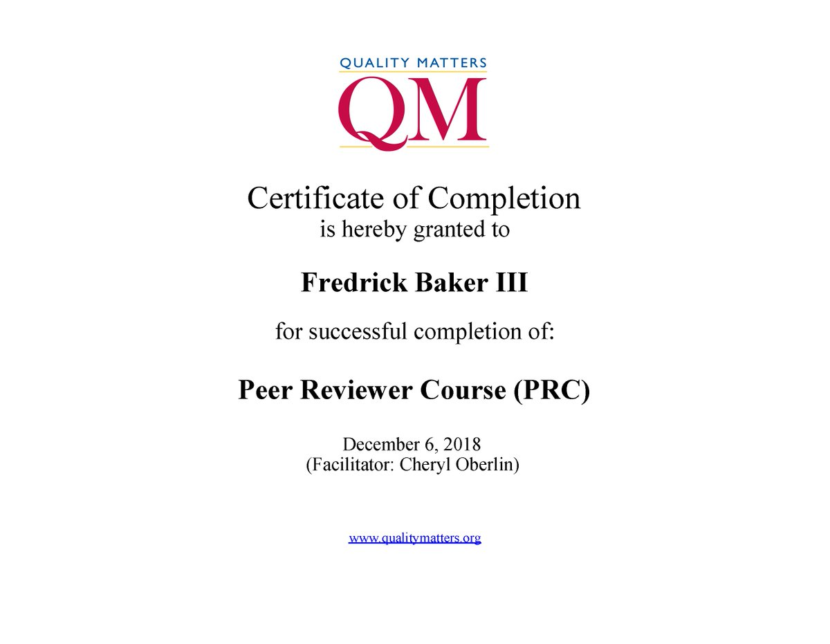 Fred Baker On Twitter Awesome I Am Now Officially A Quality