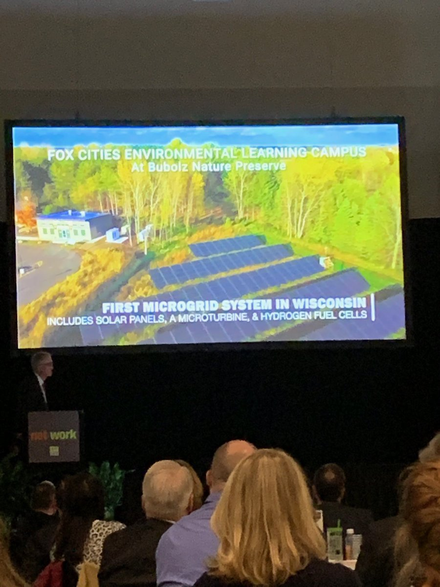 ⁦@FaithTech⁩ is investing in the New North with its innovative clean energy microgrid at Bubolz Nature Preserve #NNSummit18 <br>http://pic.twitter.com/xmE6pZEsUl