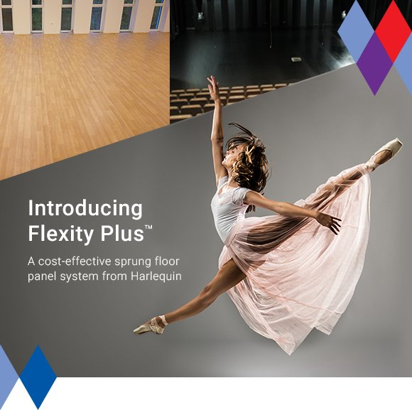 Flexity Plus is a cost-effective, self-install sprung floor panel system, designed for permanent or semi-permanent installation.