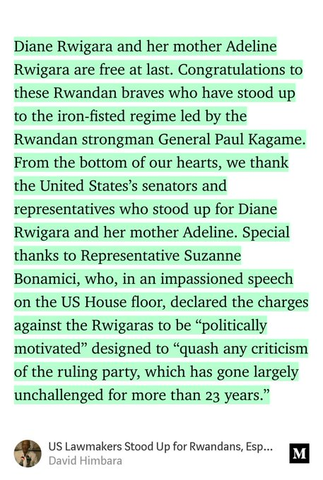 """""""US Lawmakers Stood Up for Rwandans, Especially Diane Rwigara And Her Mother Adeline"""" by David Himbara Photo"""