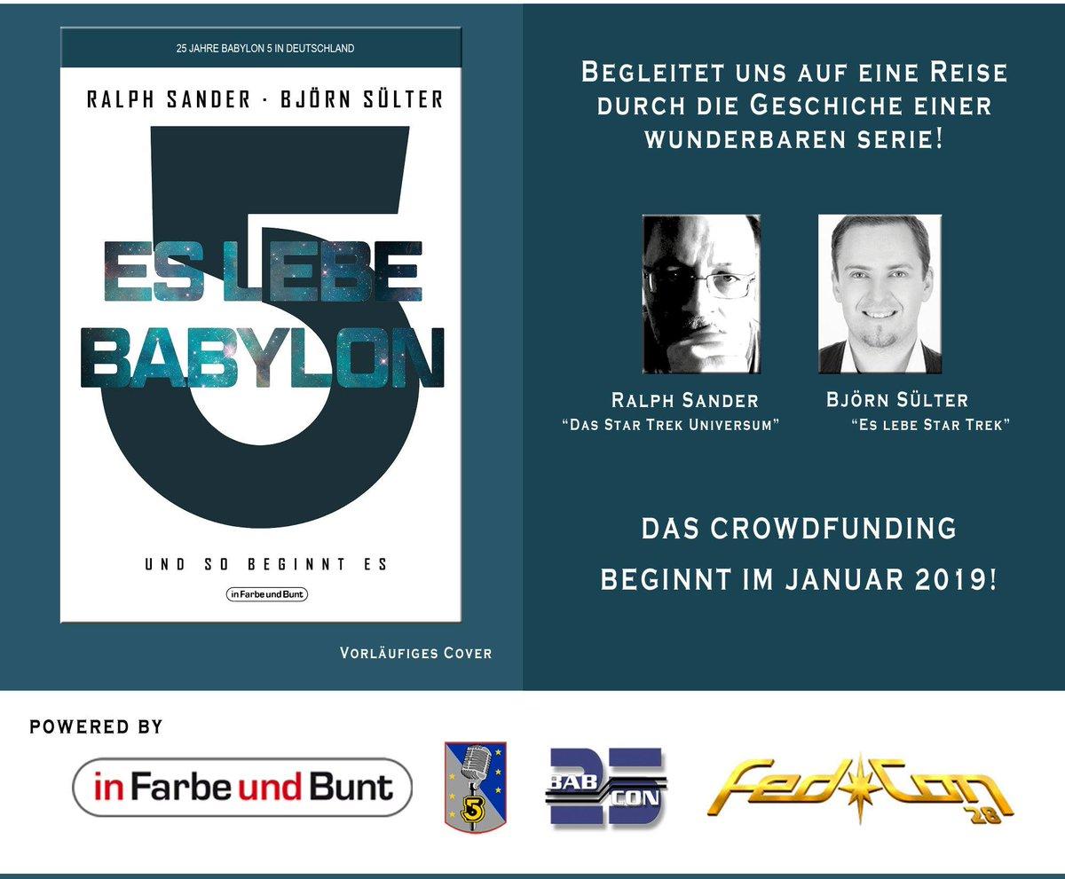 Ich freu mich drauf, das Projekt gemeinsam mit Ralph Sander und dem grandiosen Fandom zu realisieren :-) #eslebebabylon5 #besterjobderwelt #andsoitbegins #b5