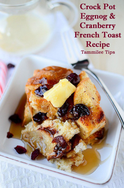 Eggnog and Cranberry Crock Pot French Toast Recipe https://t.co/MkOnOr4xMu by @tammileetips https://t.co/Dw8i0agsIf
