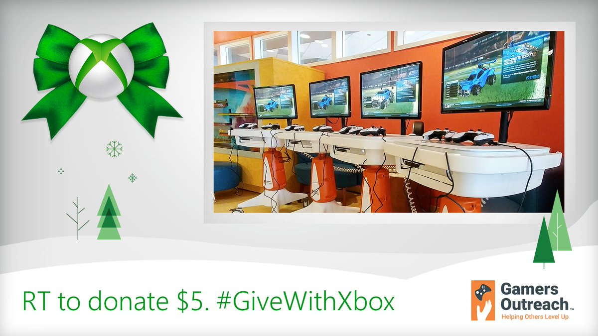 Retweet and Xbox will donate $5 in Xbox product to charities like @GamersOutreach.  Yup, it really is that easy. 🤯  Learn more: https://t.co/0i4ecg7UbP #GiveWithXbox 💚 https://t.co/FFyDm2HCIj