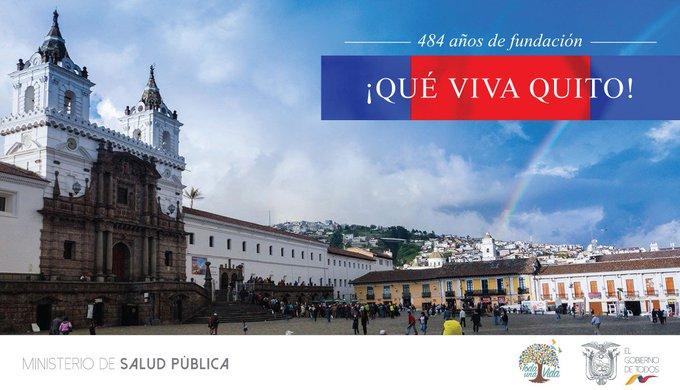 Saludamos a nuestra capital, Quito Luz de América, en sus 484 años de Fundación. Por su gente acogedora, sus noches estrelladas, cultura, tradiciones y su valioso aporte al progreso y desarrollo de todo el Ecuador. ¡Qué #VivaQuito! #FiestasUIO Photo