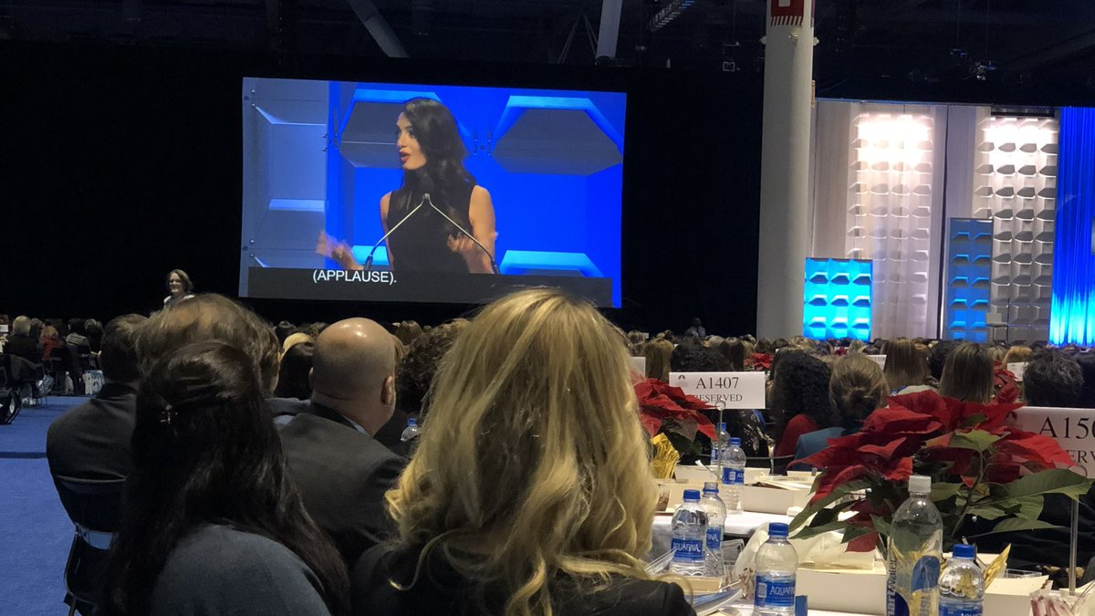 """I am optimistic because all around the world, I see girls who won't settle and who won't be stifled."" - Amal Clooney on the fight for equality around the world. @masswomen #MassWomen <br>http://pic.twitter.com/Ge1TUwZCgL"