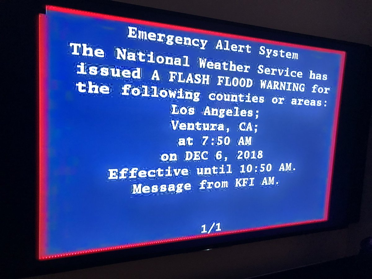 Watching the news this AM — news anchor's voice was replaced with a grating siren, and this alert comes on the screen. Srsly, let's take climate change seriously. Clean water. Renewable electricity. Access to global information. We can change the world. Be safe out there.
