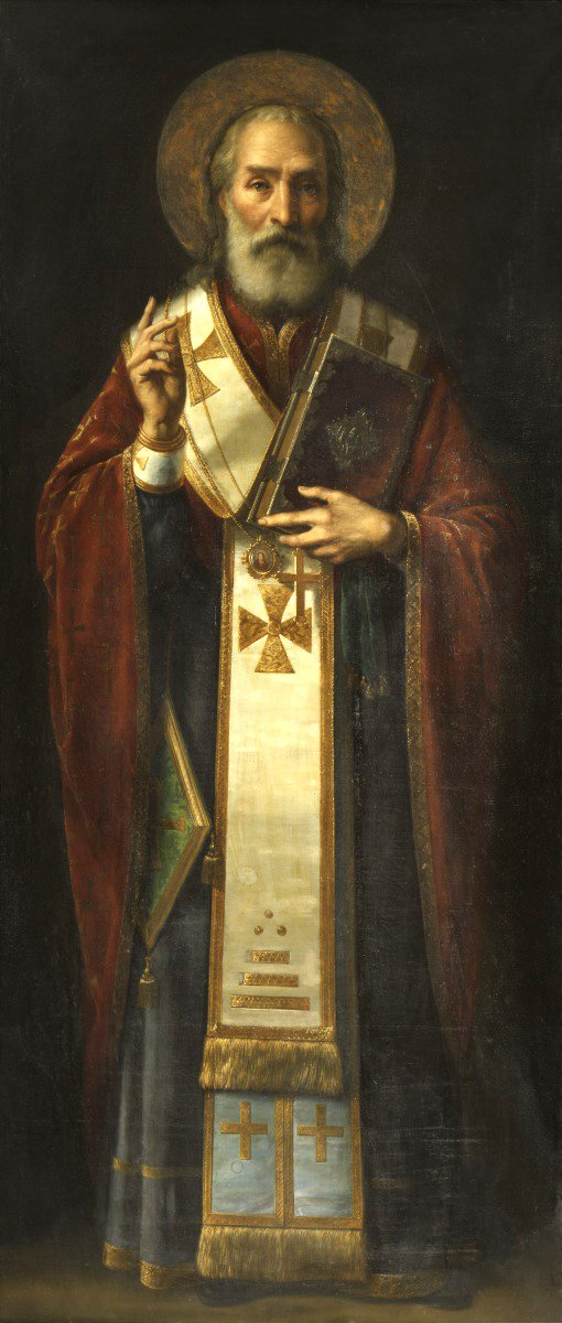Orphaned in his youth, St Nicholas is known for protecting the virtue of three daughters of a poor family by providing for their dowries to be established in holy marriages  Mindful of so much that threatens the innocence of childhood today, St Nicholas, holy bishop, #OraProNobis<br>http://pic.twitter.com/rDBN6fDfZI