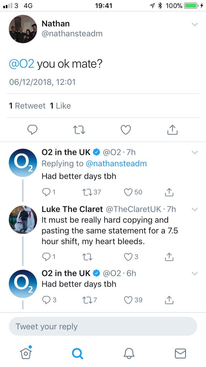 Claret And Banter >> Tom Glenwright On Twitter Some Top Banter From O2