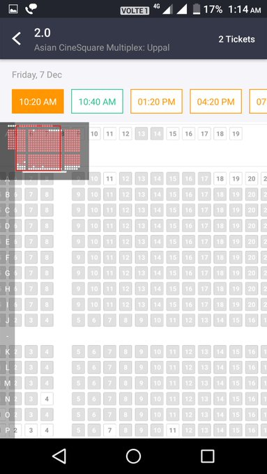 #2Point0EpicBlockbuster Today Hyderabad morning shows too house full. Photo