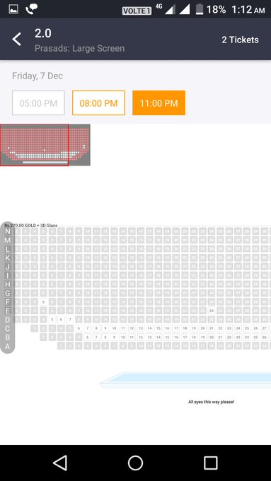#2Point0EpicBlockbuster Hyderabad prasad all shows full. Photo