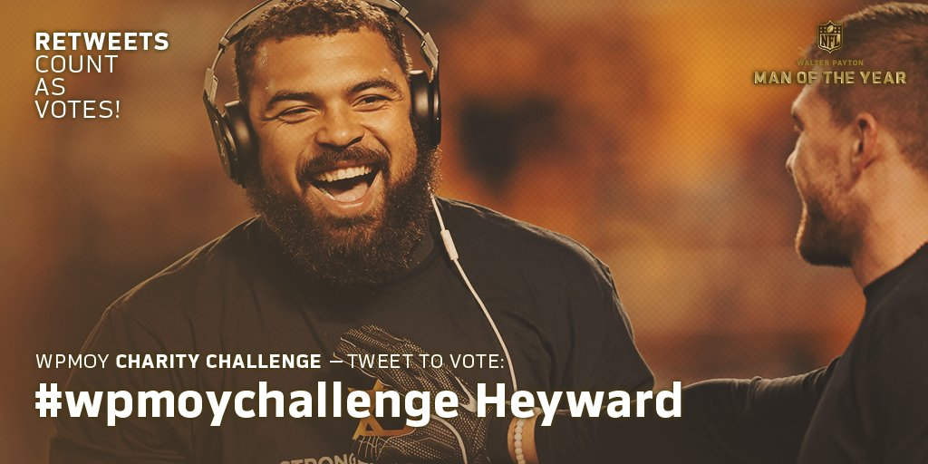 Congratulations @CamHeyward for being named the @Steelers Walter Payton Man of the Year nominee. Much deserved   #wpmoychallenge  Heyward  let&#39;s get him to the pro bowl while we&#39;re at it #probowlvote<br>http://pic.twitter.com/QgX6TMA2a5