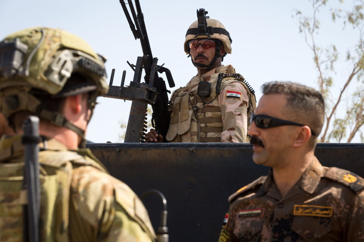 Australian and NZ troops trained with Iraqi soldiers to test their incident response procedures at Taji MIlitary Complex in #Iraq