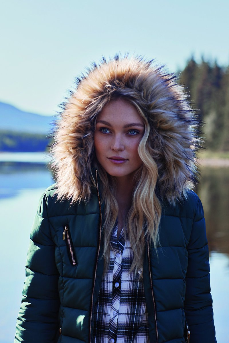 2cc293f8920 Removable Faux Fur Hood Puffer Jacket - https://bit.ly/2rqkGp7 Available in  Green Navy & Black #Thursdays #ApricotClothing #Style #ApricotStyle #coat  ...
