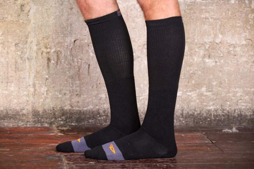 Review  DeFeet Thermeator Knee High socks - v.good choice for keeping your  calves   feet warm on cold and wet. da09ba34e
