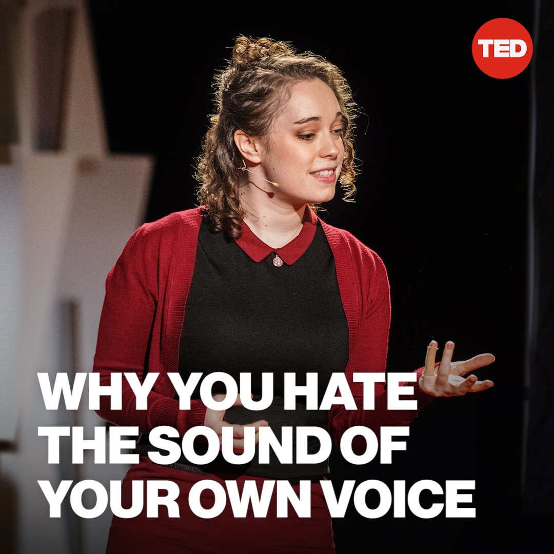 This is why your voice seems so terrible on recordings.  Watch the full TED Talk here: https://t.co/r1oQahI2dh https://t.co/jA5PdevjHS