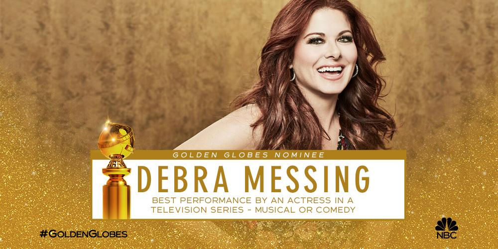 .@DebraMessing&#39;s going for gold!  We couldn&#39;t be more proud of her #GoldenGlobes nomination. <br>http://pic.twitter.com/IS96UJJJq9