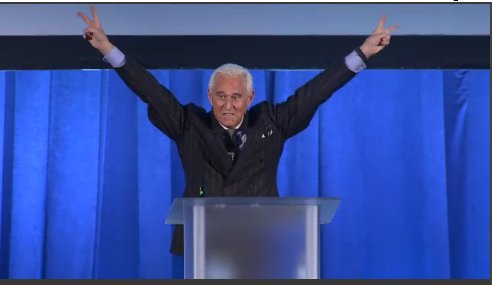 Seen on C-SPAN3 LIVE: Roger Stone concludes his remarks this way ...