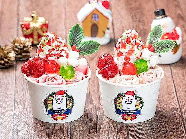 2018年大ブレイク!!冬でも食べたいロールアイスクリーム専門店「#ロールアイスクリームファクトリー」が、#クリスマス #限定メニュー「#ストロベリーチーズケーキ」を12月8日提供開始! 株式会社Something NEWのプレスリリース #スイーツ