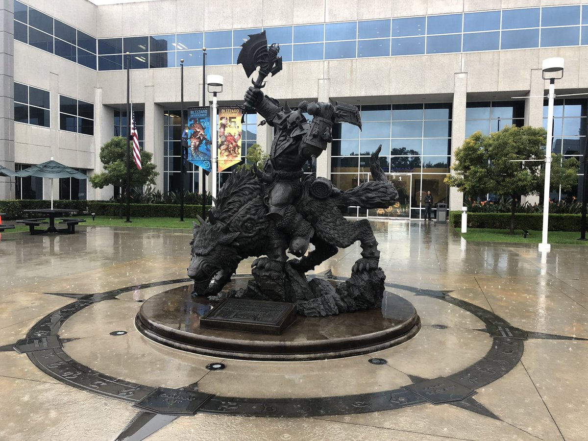 "Update to all Blizzard Irvine employees: apparently it's called ""rain"", which is a noun meaning ""water falling in drops condensed from vapor in the atmosphere."" I know it's weird but don't panic, it shouldn't stain and won't hurt our dogs. #LARain #BlizzLife<br>http://pic.twitter.com/Trm0u9Umcb"