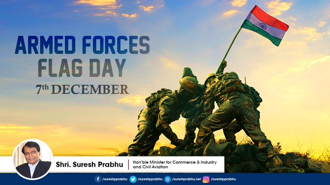 On the occasion of #ArmedForcesFlagDay I salute our armed forces personnel who dedicate themselves to protecting our motherland. Photo