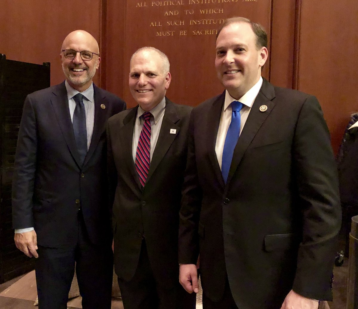 Post-partisan #Hannukah with great Americans @RepTedDeutch and @RepLeeZeldin!